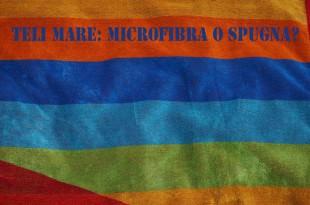 asciugamano colorato in spugna