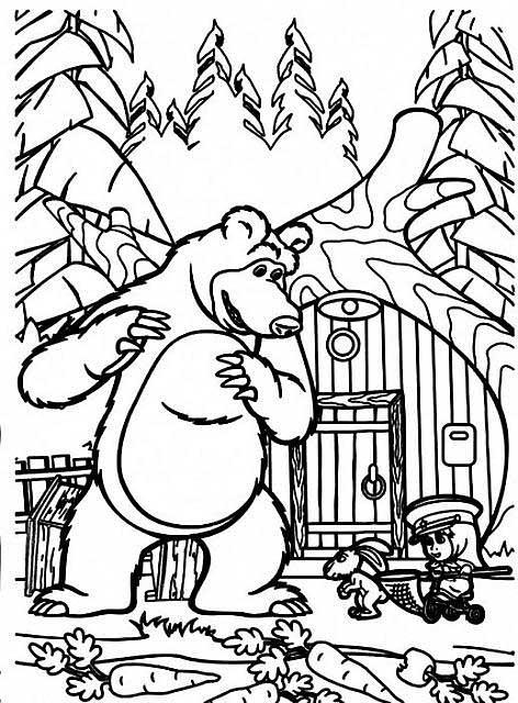 Masha e orso disegni da colorare 2018 for Immagini masha e orso da colorare
