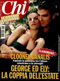 Foto Canalis-Clooney: dubbi sulla veridicità di questa copertina
